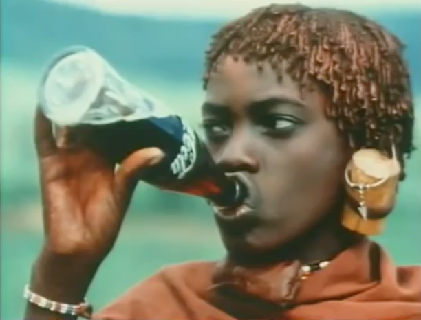 Still from John Pilger - Burp! Pepsi v Coke in the Ice Cold War [1984]